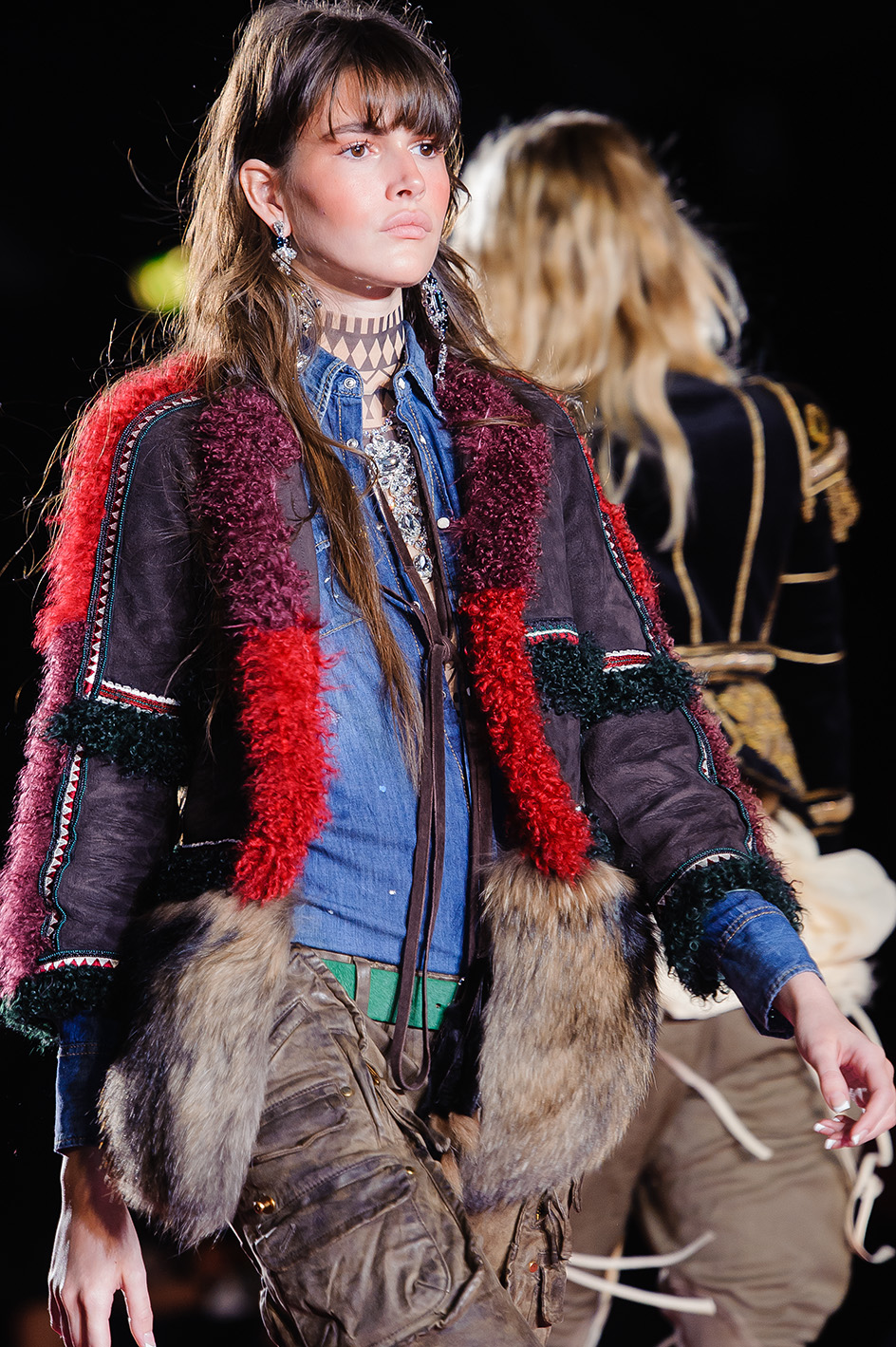 Milan woman fashion Week Fall Winter 2015-16Dsquared show