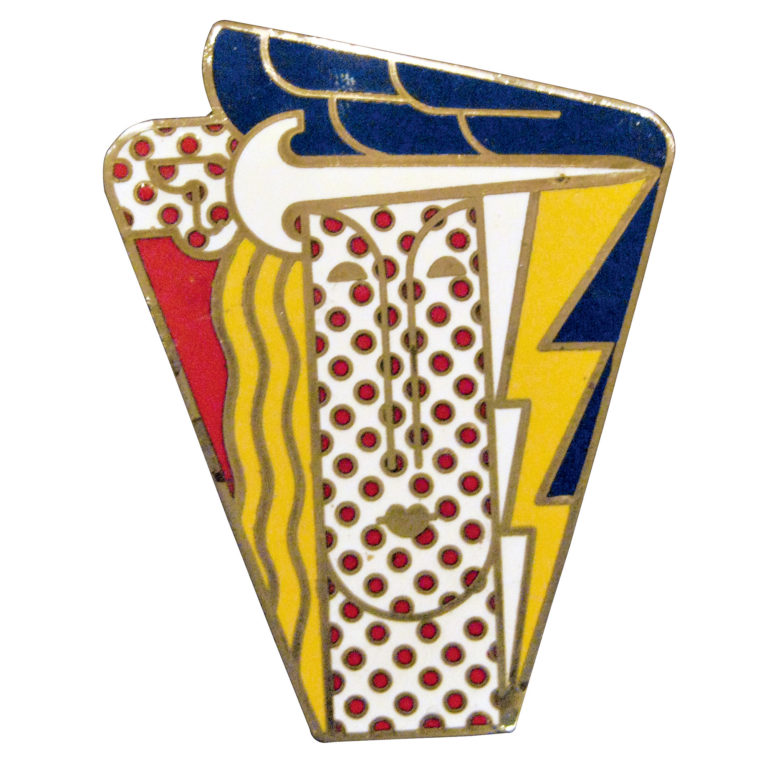 Roy Lichtenstein, broche Modern Head, 1968