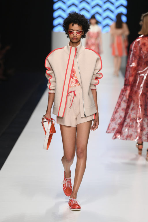 MILAN, ITALY - SEPTEMBER 20:  A model walks the runway at the Anteprima show during Milan Fashion Week SS 2019 on September 20, 2018 in Milan, Italy.  (Photo by Daniele Venturelli/Daniele Venturelli/Getty Images for Anteprima)